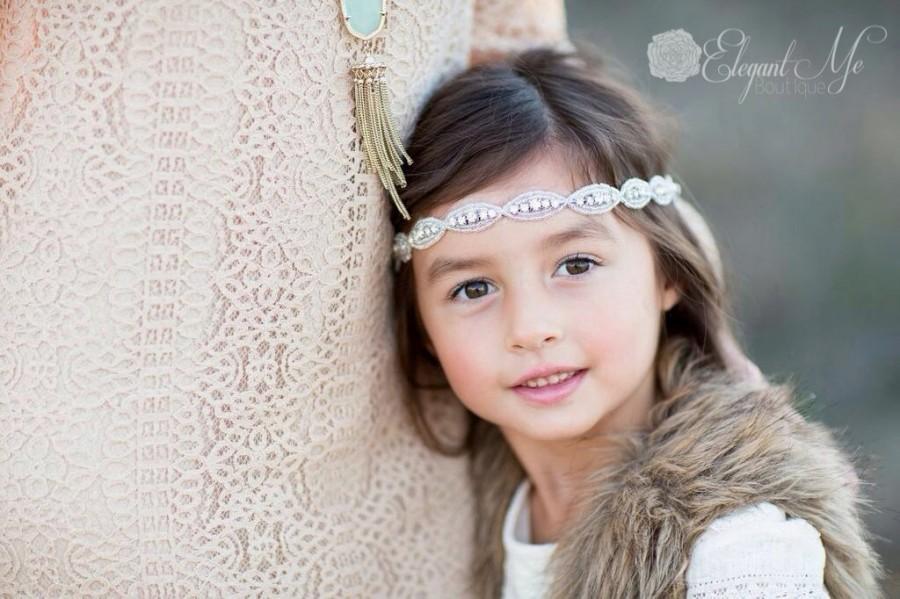 wedding headband bridal headband beaded rhinestone headband flower girl headband halo headband prom headband bridesmaid headband
