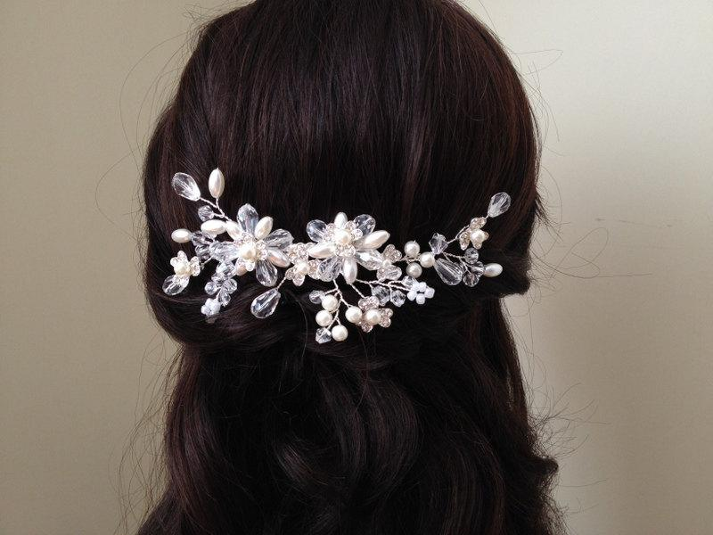 Свадьба - Wedding Headband, Bridal Hair Accessories, Wedding Headpiece, Pearl/Bead/rhinestone Comb