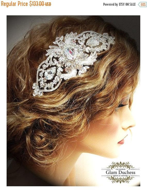 Mariage - Wedding hair accessory, Bridal hair comb, crystal comb, bridal hair accessory, Bridal crystal Rhinestone Hair Comb
