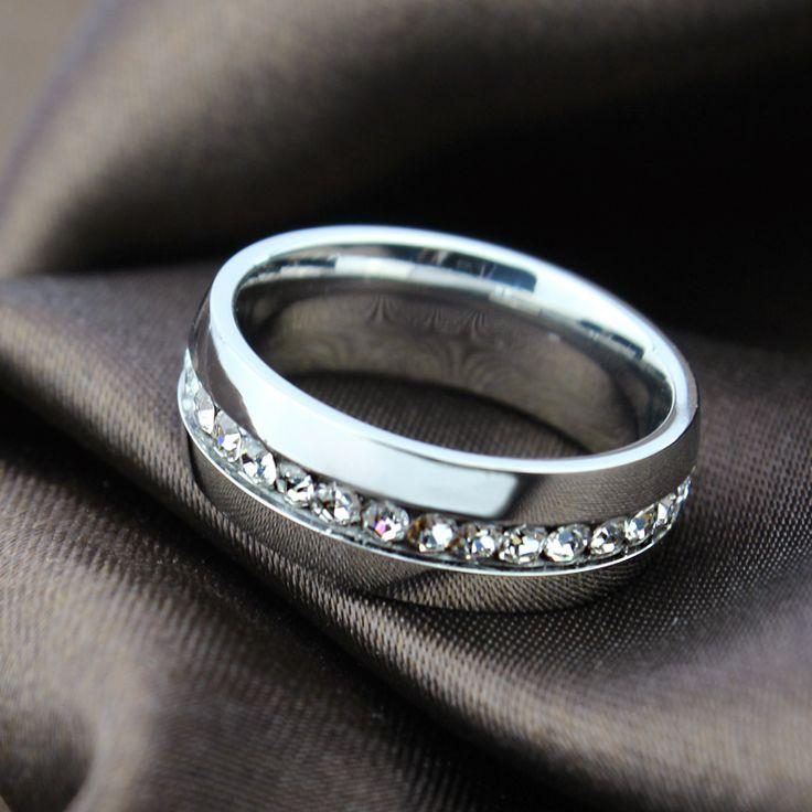 Wedding - 18k Gold Plated Crystal Wedding Ring For Women