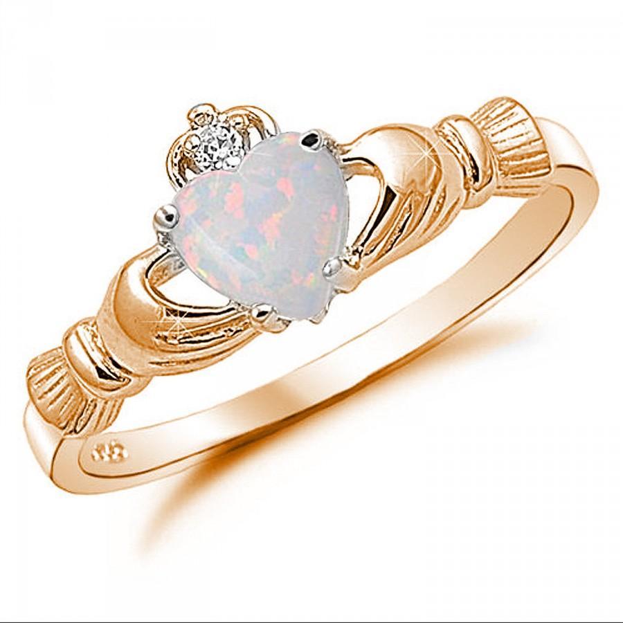 claddagh ring rose gold 925 sterling silver carat. Black Bedroom Furniture Sets. Home Design Ideas