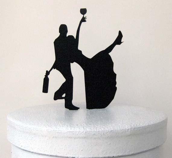 Свадьба - Wedding Cake Topper - Drunk Bride!
