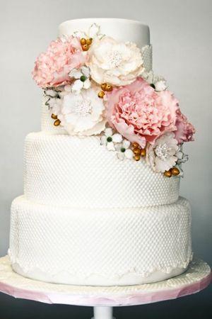 Wedding - Wedding Cake Of The Day: Pretty, Pretty Peonies