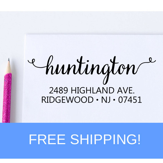 Hochzeit - Self Inking Address Stamp - Return Address Stamp - Personalized Stamp - Save The Date Stamp  (D106)