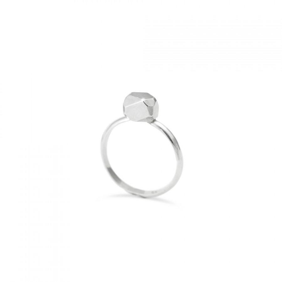 Hochzeit - Unique engagement ring - Solitaire ring - Engagement ring - Sterling silver ring for women - RS 018