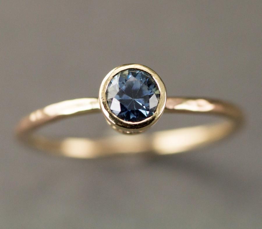 91c1d8f3cfcb35 Montana Sapphire Gold Engagement Ring - .67 Carat Natural Yogo Sapphire Ring