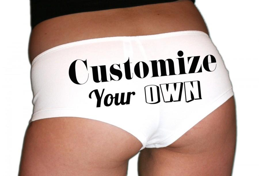 1827d2275 Custom Bachelorette Gift. Bridal Underwear. Bride Lingerie. Bride Panties. Bachelorette  Party. Customize Your Own Panties.