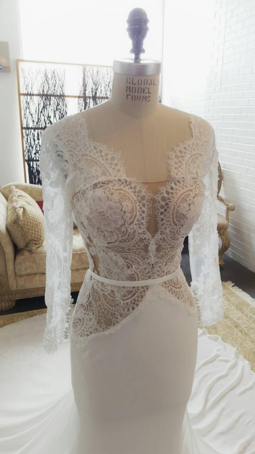 Uniquely Transformational Wedding Dress, Sleeves, Designer Inspired ...