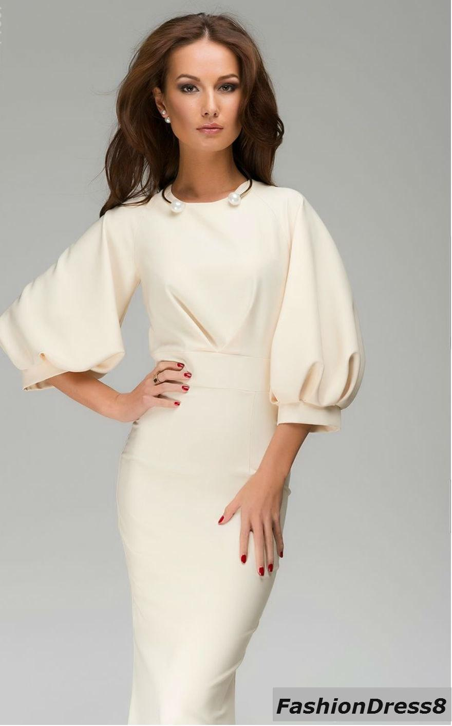 Купить Белое Платье С Длинным Рукавом