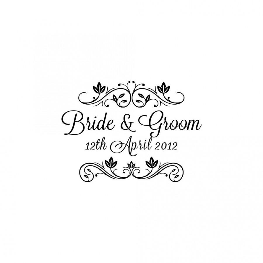 boda personalized custom wedding rubber stamps handle mounted gift
