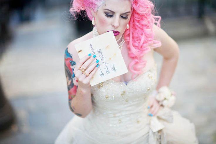 "Hochzeit - ""Rock N Revolution"" – A Parisian Punk Rock Marie Antoinette Photo Shoot… The Final Results!"