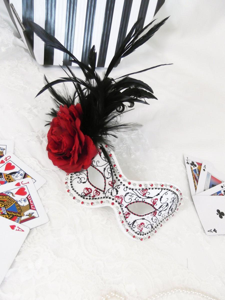Свадьба - Queen of Hearts Masquerade Ball Mask ~ Alice in Wonderland