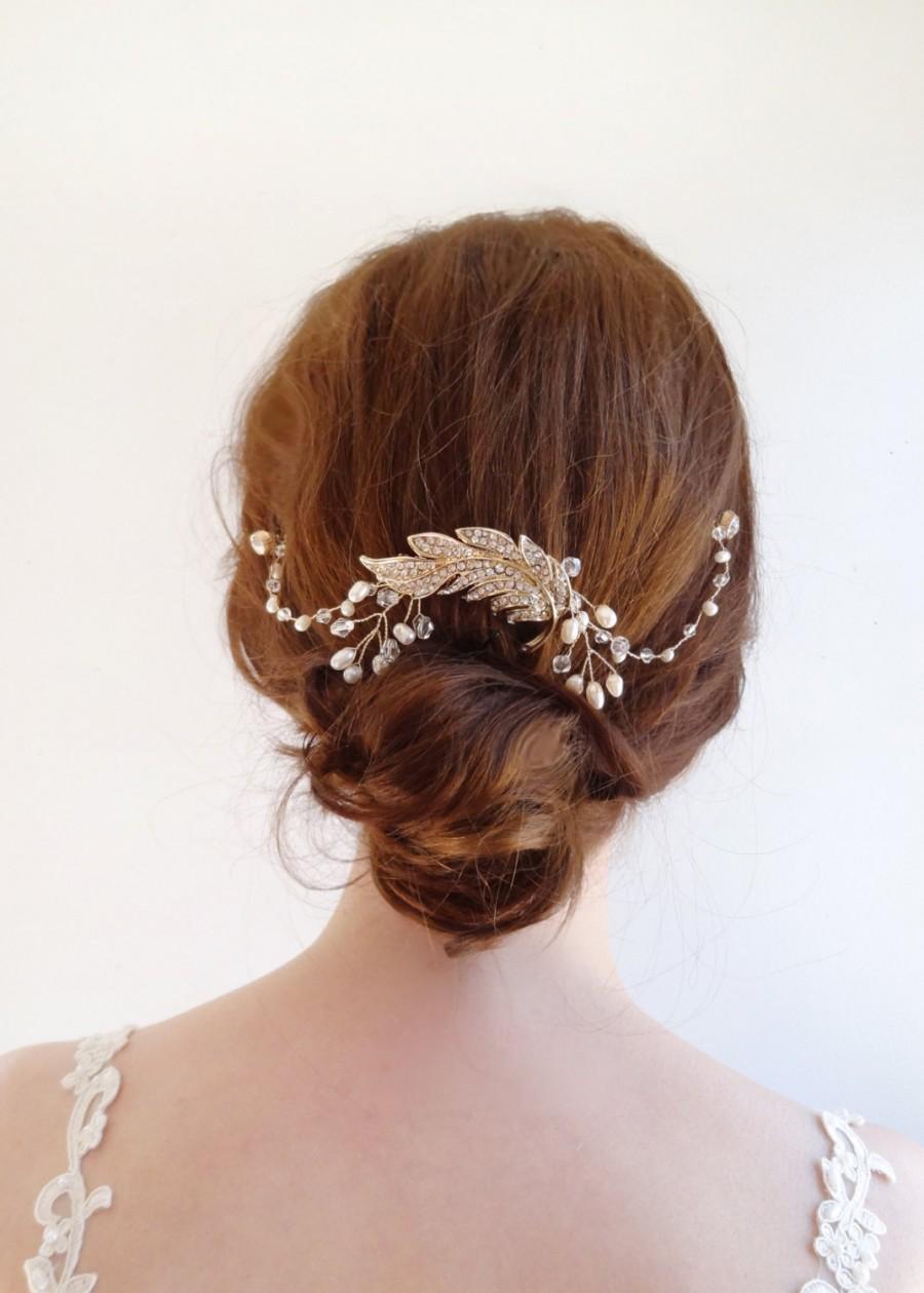 Crystal Bridal Headpiece Wedding Hair Chain  Wedding Hair Accessories Bridal Hair Jewelry ...
