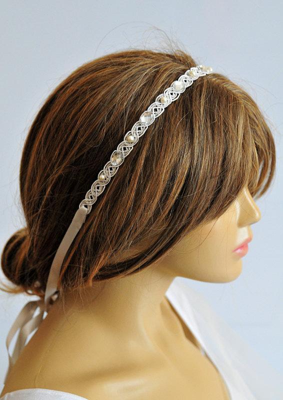 Wedding - wedding headband, wedding hair accessories, hairband, headpiece, lace, bridal headpiece, head piece, Bridesmaid Gifts, hair,  Gift Ideas