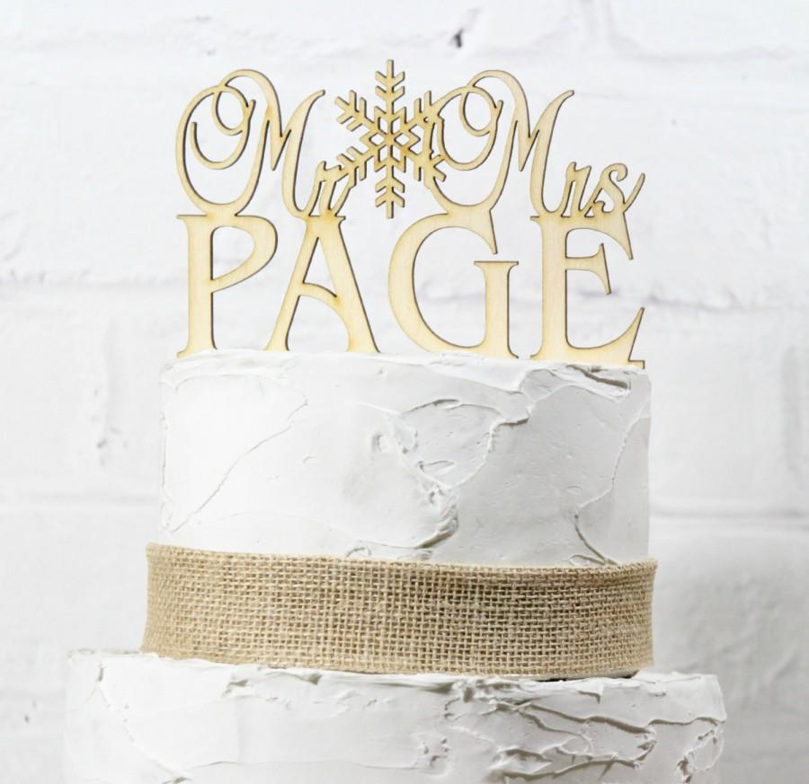 Hochzeit - Rustic Wedding Cake Topper or Sign Mr and Mrs Topper Custom Personalized with YOUR Last Name Paintable Stainable Wood
