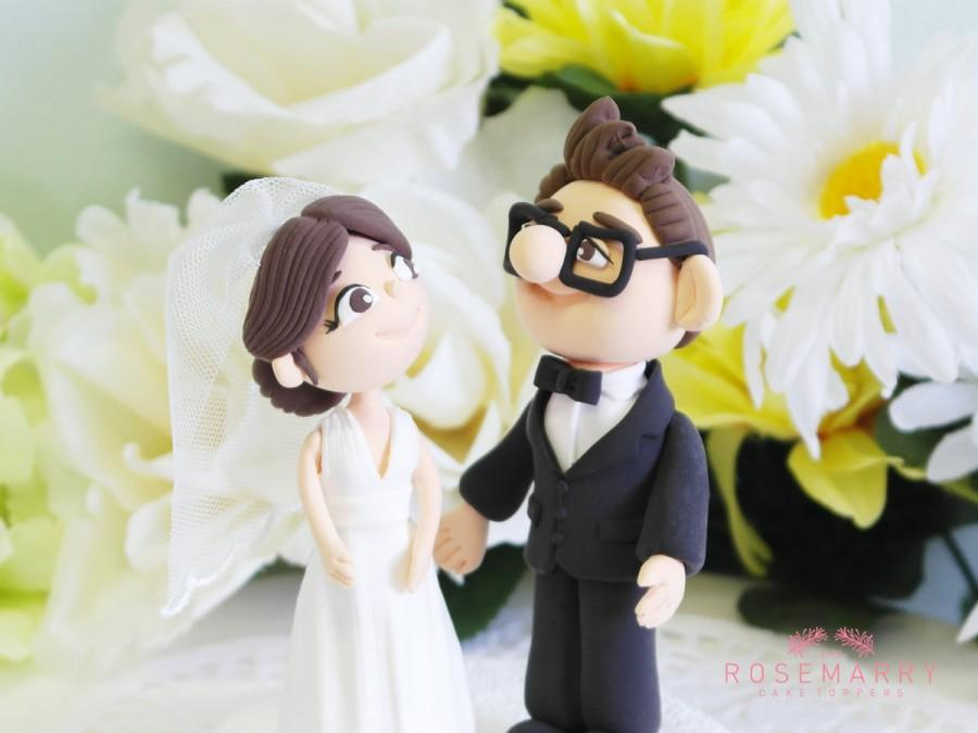 custom wedding cake topper elli carl from movie up 2415526