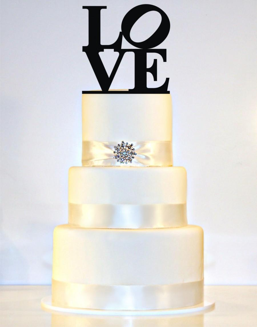 Mariage - Love Wedding Cake Topper or Sign Philadelphia Love sign with a heart