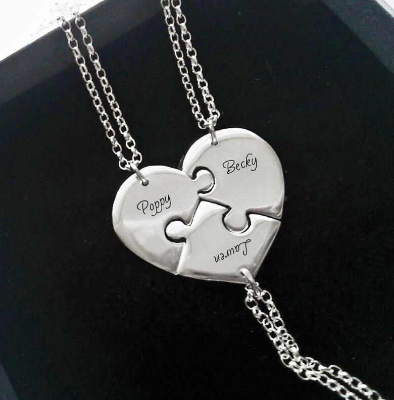3 Best Friend Necklace - Personalized Bridesmaid Gifts ...
