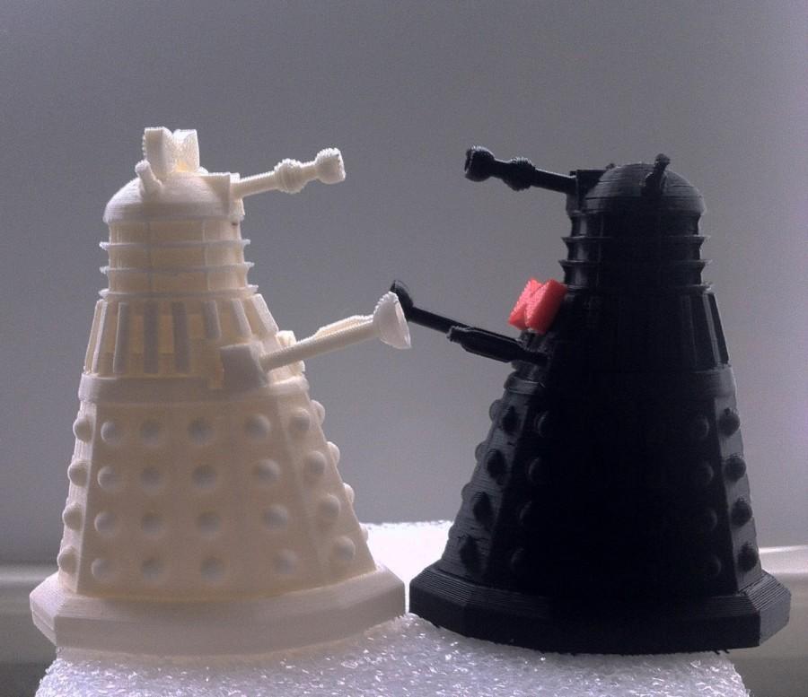 Mariage - Dr Who Inspired 3D Dalek Wedding Cake Topper