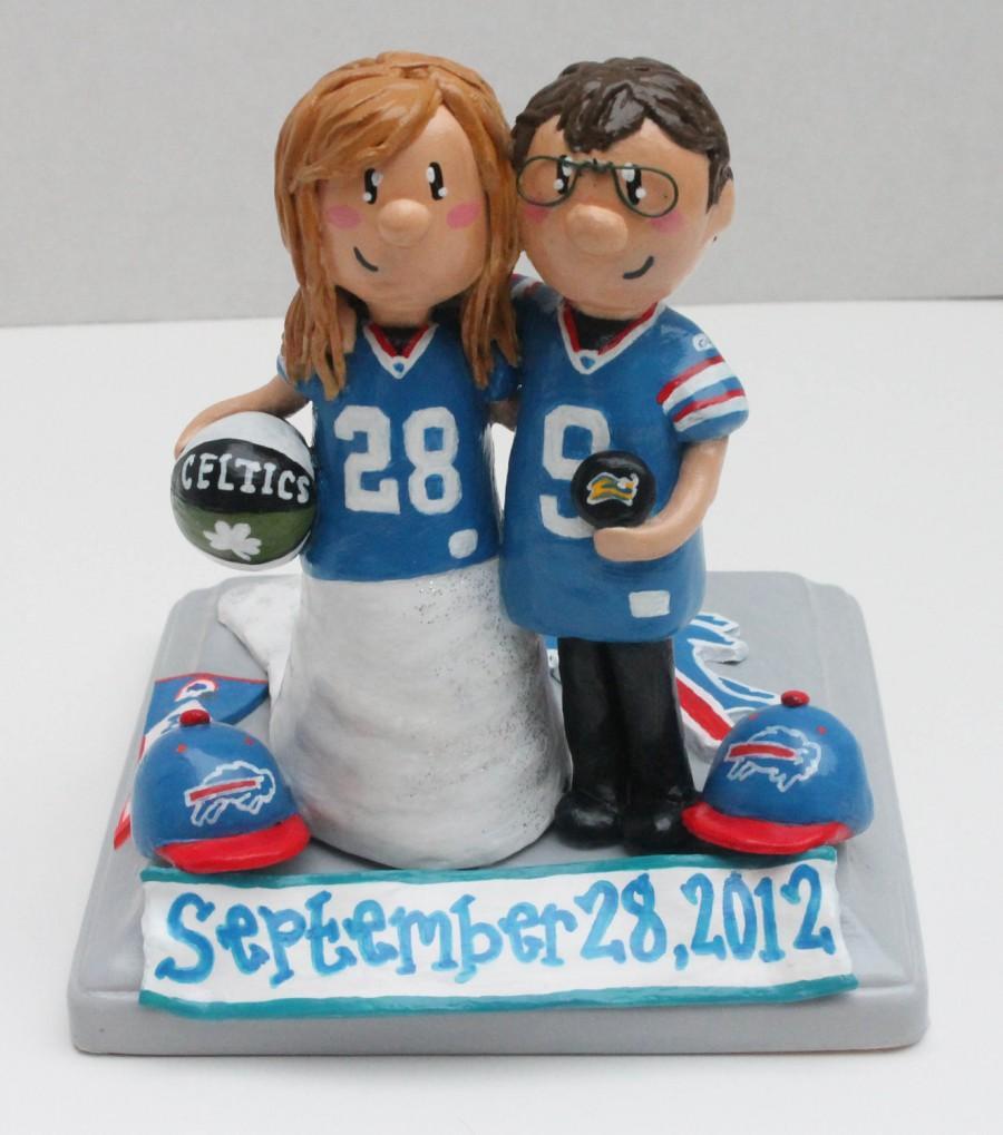 Mariage - Custom Wedding Cake Topper: Laurie's Buffalo Bills Topper