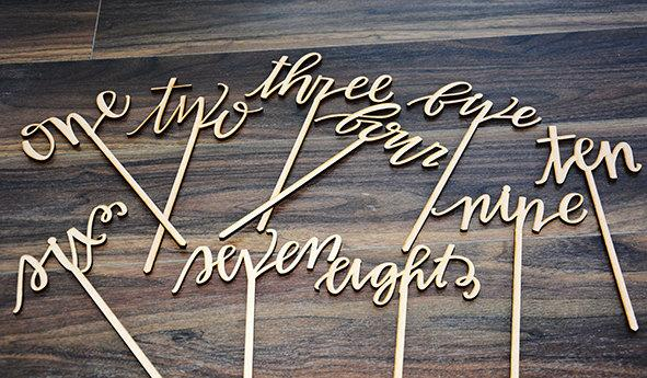Mariage - Wedding table number, wooden table numbers, rustic wedding table numbers, unfinished wood numbers, diy wedding table decoration