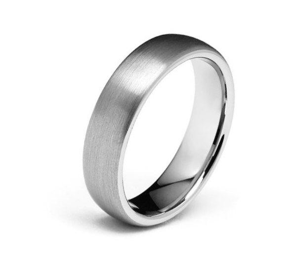 wedding ring man woman 6mm width tungsten wedding band couple simple unique engagement ring classic dome brushed finish - Wedding Ring Man