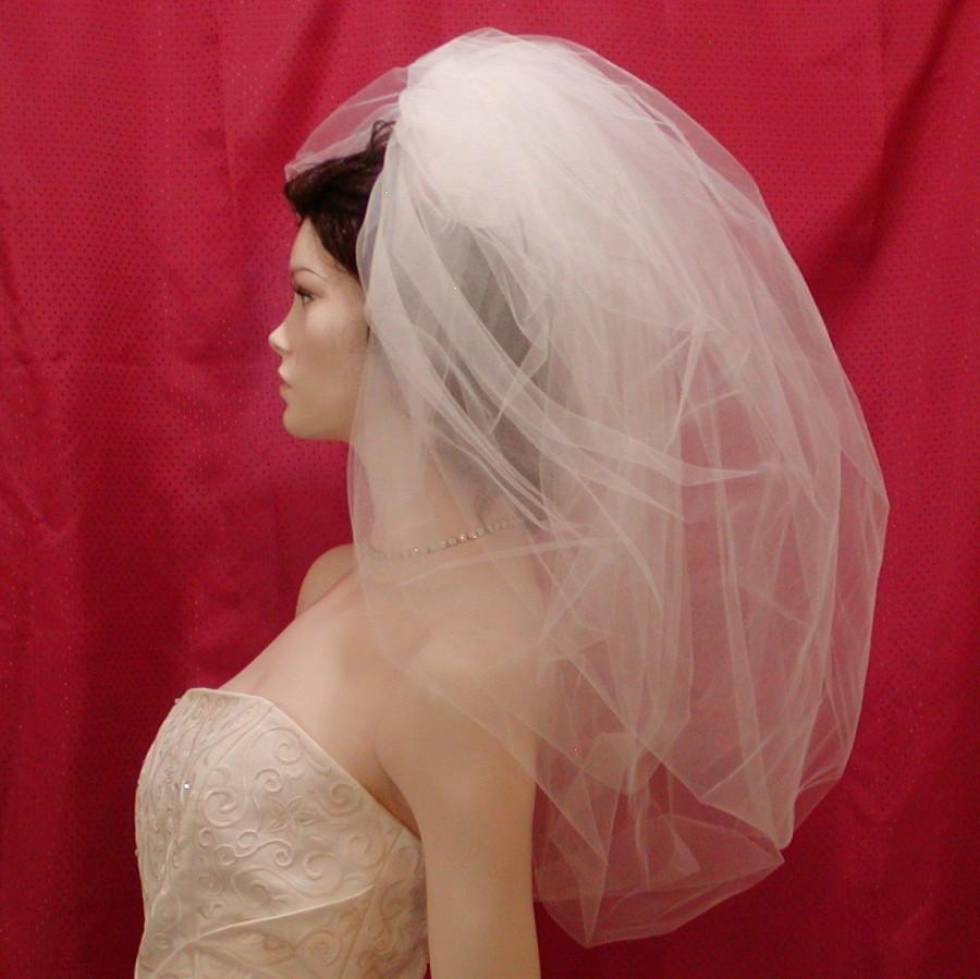 زفاف - Double Bubble Bridal Veil  Elbow length and So very Romantic & Uber Pouffy Vei