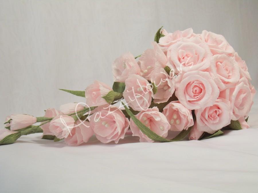 Bridal Bouquet,wedding Bouquet,paper Flower,roses Pink,bouquet Paper ...