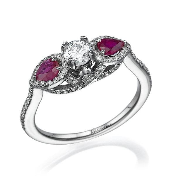 halo deco rose ring her engagement art diamond antique for set bridal ruby vintage woman anniversary il gift july rings birthstone gold unique