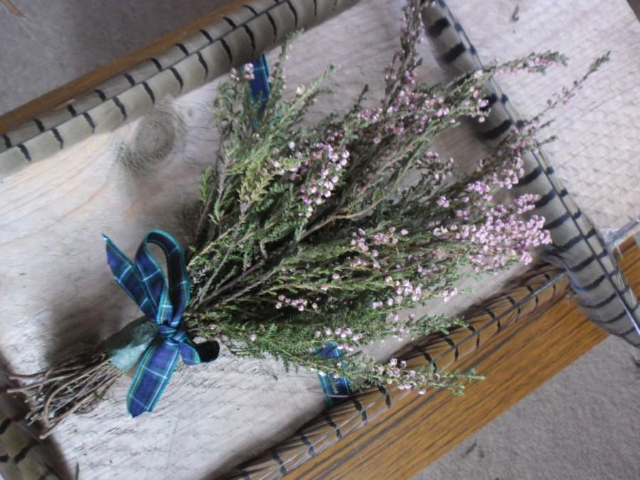 Wedding - Heather bouquets  - Wild harvested Scottish Highlands Faery Charm weddings handfastings housewares decoration scotland cottage herbs