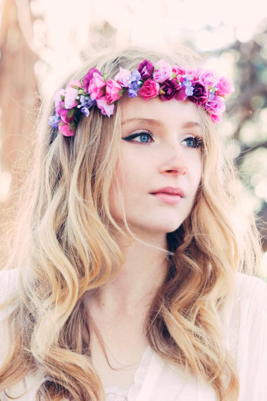 Wedding Flower Bridal Hair Accessory Roses Hair Wreath Headpiece