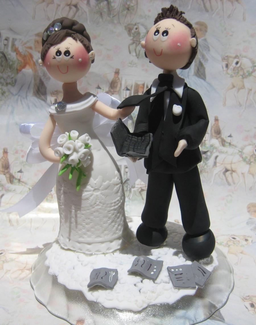 Funny Wedding Cake Topper Funny Cake Topper Custom Wedding Cake Topper Gro