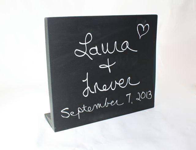 Hochzeit - Chalkboard Message Sign or Memo Board, free standing, Small or Large Sizes, wedding, party, event, menu or store hours & specials sign