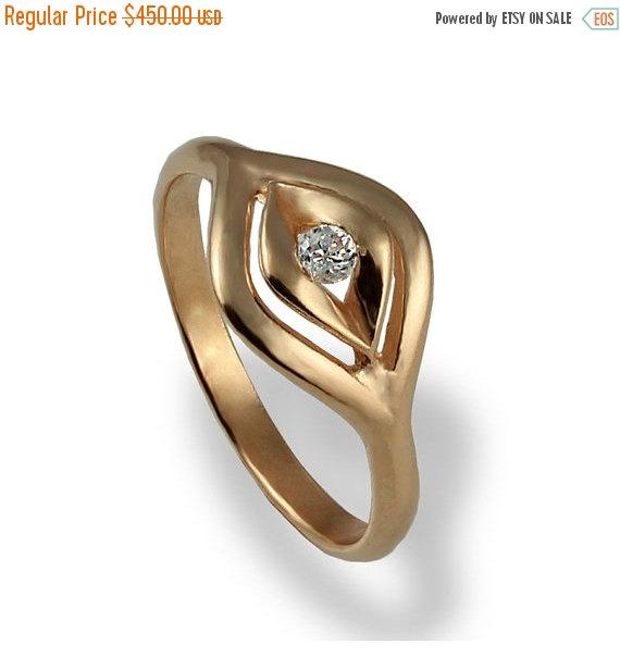 Black Friday SALE Unique Engagement Ring Diamond Bridal Ring Rose Gold