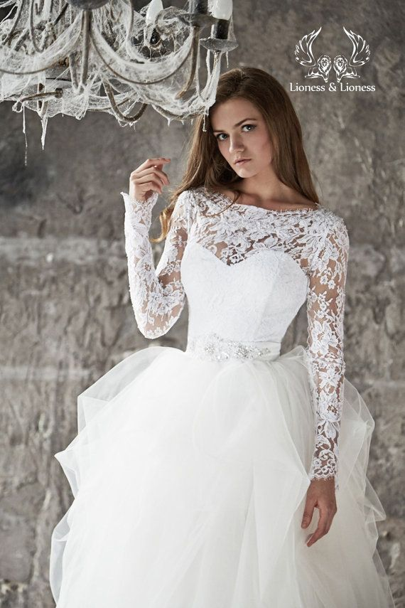 Свадьба - Wedding Dress. Lace Wedding Dress. Long Sleevs Wedding Dress Vera
