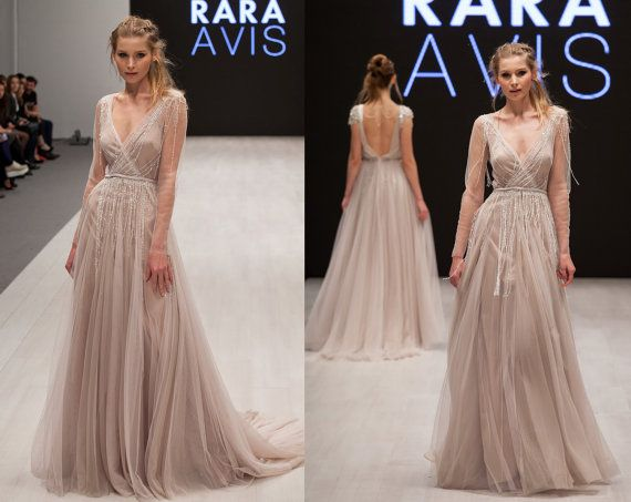 زفاف - Wedding Dress TOVEL, Long Sleeve Wedding Dress, Boho Wedding Dress, Fairy Wedding Dress, Dress Wedding, Wedding, Beach Wedding Dress