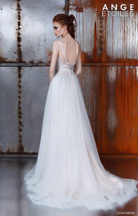 Свадьба - Wedding Dress ZHASMIN, Beach Wedding Dress, Wedding Dresses Tank