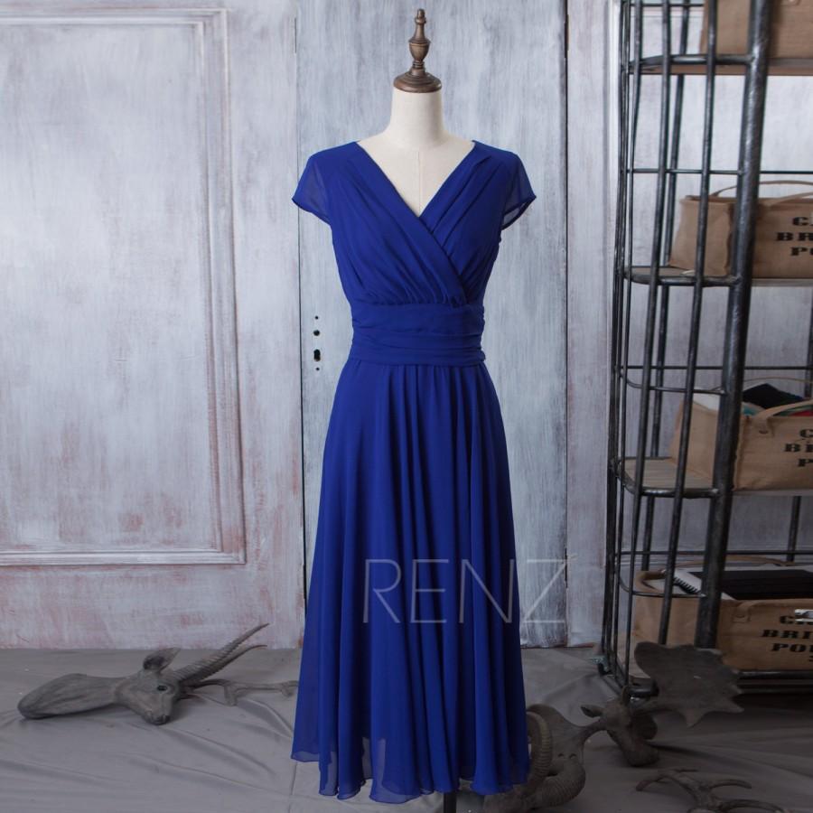 8391551545f 2015 Royal Blue Bridesmaid Dress