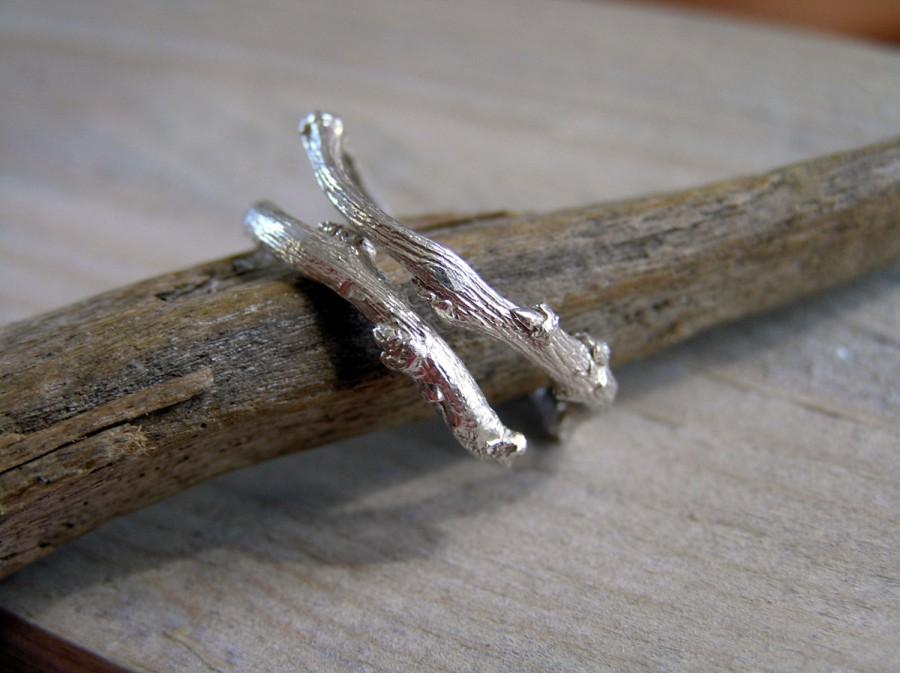 Mariage - Sterling silver twig ring. Botanical jewelry. Elvish sterling silver twig ring. Handcrafted sterling silver branch ring.