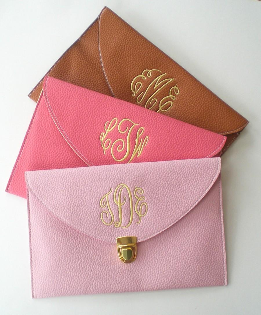 Mariage - Clutch Purse with Detachable Chain Monogram Gifts Graduation Gift Mothers Day Gift