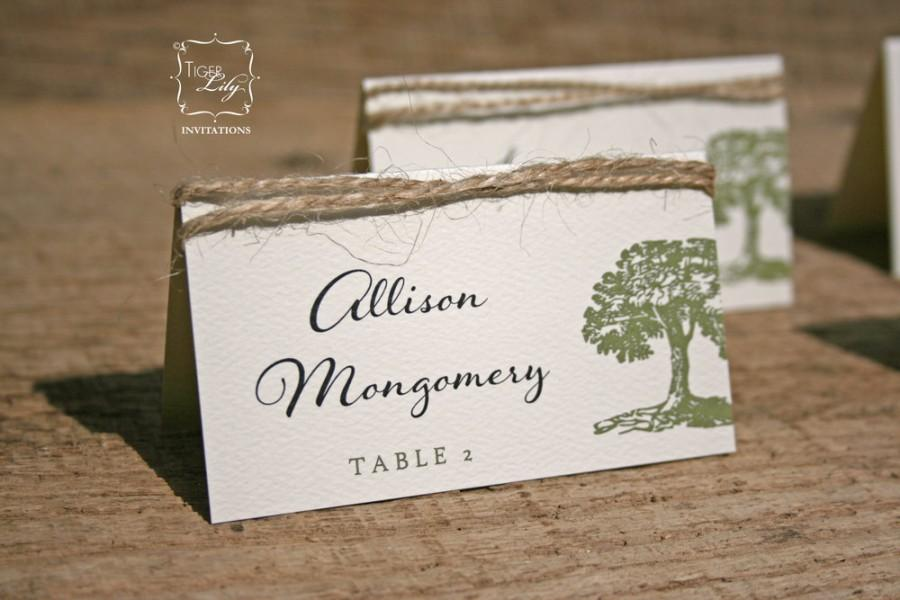 Mariage - Rustic Tree Twine Wedding Place Cards Set of 50