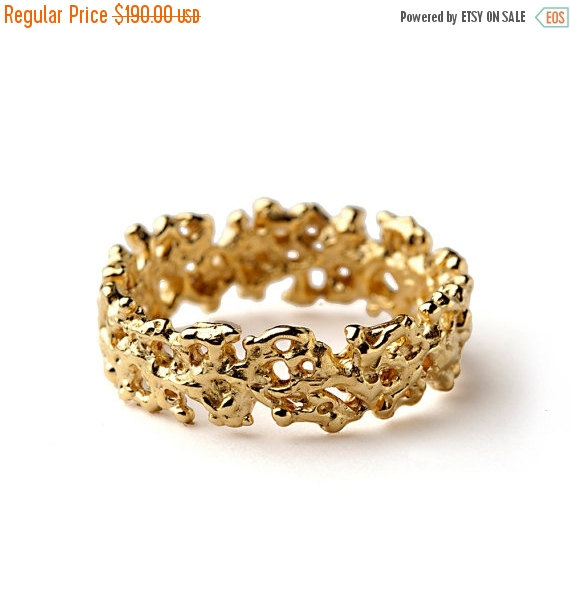 black friday sale coral wedding band yellow gold