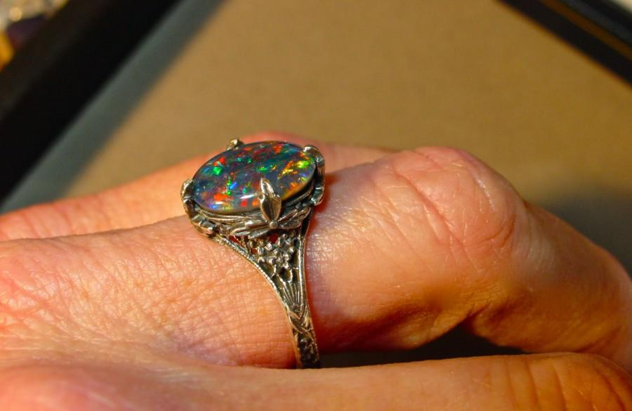 diamond ring set colorful diamonds engagement natural wedding flashopal rings opal gold