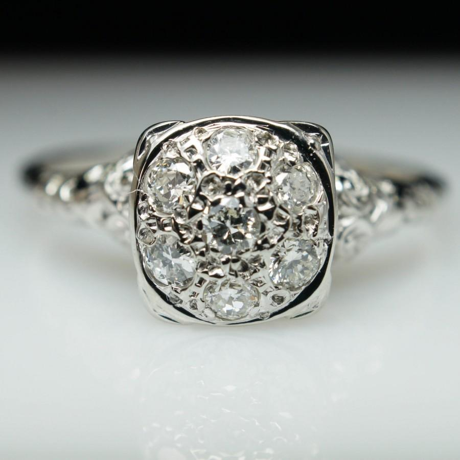 Vintage cluster wedding ring wwwpixsharkcom images for Cluster wedding rings