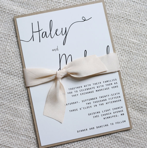 Modern Wedding Invitation Simple Wedding Invitation Rustic Wedding Invitation Elegant Wedding