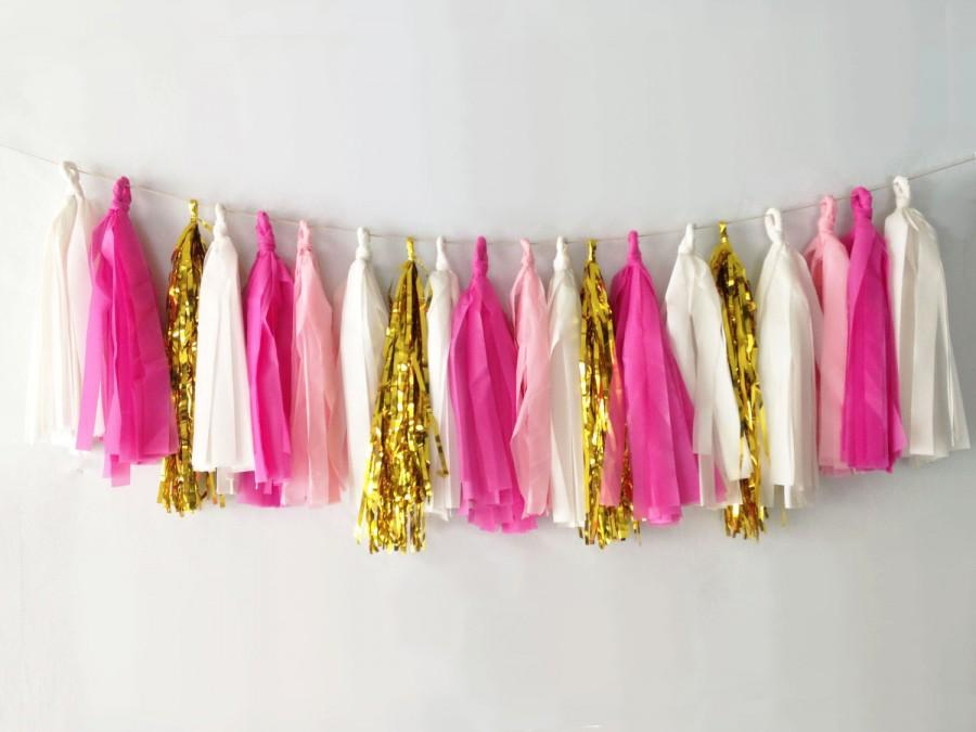 Свадьба - Pinks Tassel Garland