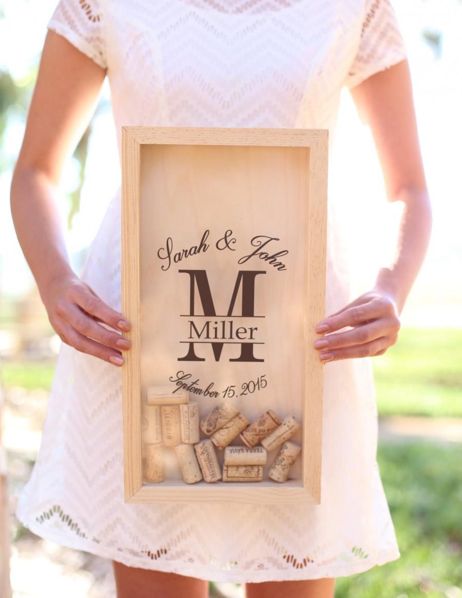 Свадьба - Personalized Wine Cork Keeper Custom Wedding Gift Rustic Barn Wedding Bridal Shower Christmas Anniversary Present (Item Number NVMHDA1347)