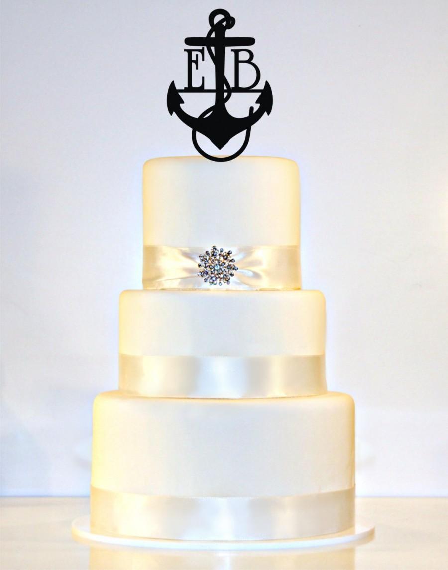Wedding - Anchor Wedding Cake Topper