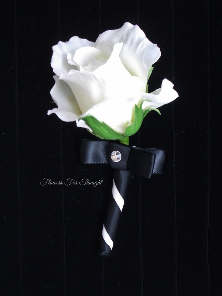White Rose Boutonniere Fft Design