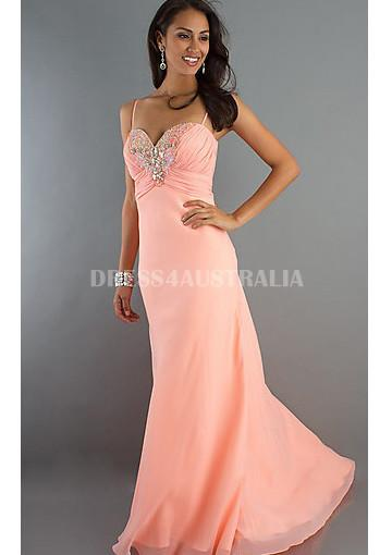 Свадьба - Buy Australia A line Spaghetti Straps Sweet Pink Chiffon Junior Formal Dress/ Prom Dresses By Dave & Johnny DJ-7559 at AU$164.94 - Dress4Australia.com.au